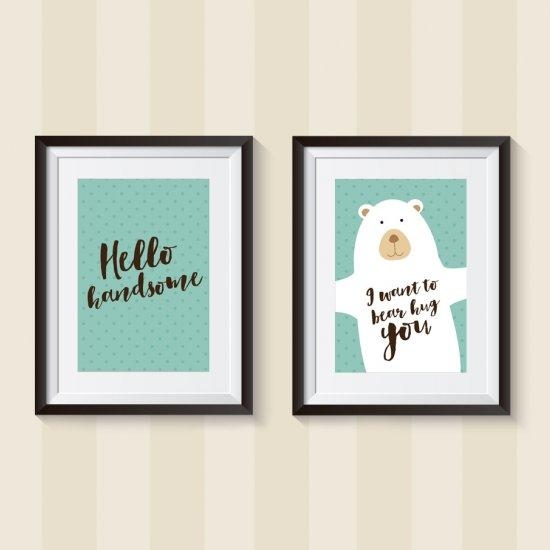 Free Printable Diy Nursery Wall Art | Craftgawker Intended For Nursery Wall Art (Image 14 of 20)