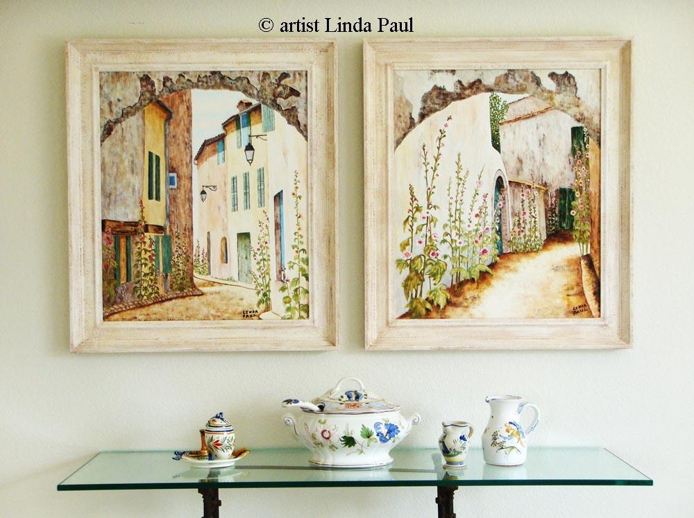 French Country Art – French Country Decor Wall Art Prints Intended For Country Canvas Wall Art (Image 12 of 20)