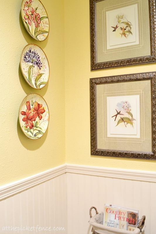 French Country Bathroom Makeover – At The Picket Fence Inside Country French Wall Art (Image 12 of 20)