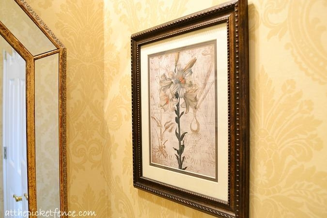French Country Bathroom Makeover – At The Picket Fence Inside Country French Wall Art (Image 11 of 20)