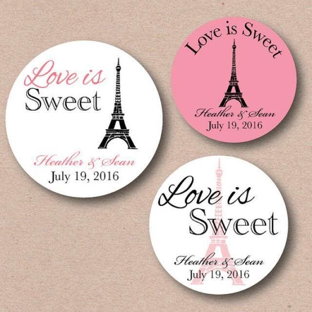 French Parisian Themed Wedding Stickers Bridal Shower Favor Labels In Paris Themed Stickers (View 3 of 20)