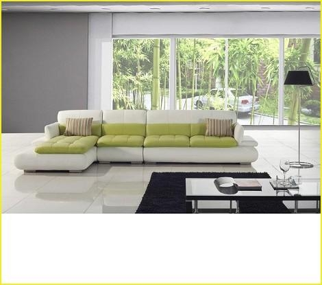 Fresh Green Leather Sectional Sofa – Investasisehat (Image 13 of 20)