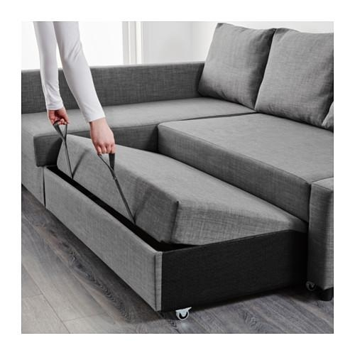 Friheten Corner Sofa Bed With Storage Skiftebo Dark Grey – Ikea Inside Chaise Longue Sofa Beds (Image 11 of 20)