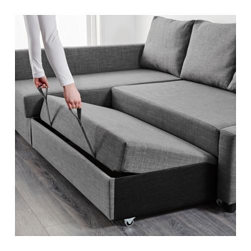 Friheten Corner Sofa Bed With Storage Skiftebo Dark Grey – Ikea Inside Chaise Longue Sofa Beds (View 3 of 20)
