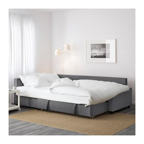 Friheten Corner Sofa Bed With Storage Skiftebo Dark Grey – Ikea Pertaining To Corner Sofa Beds (View 15 of 20)