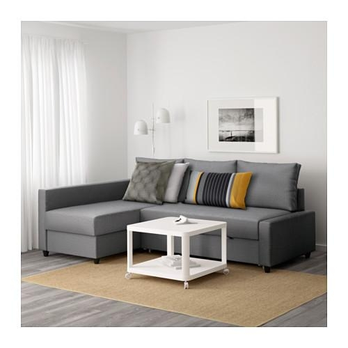 Friheten Corner Sofa Bed With Storage Skiftebo Dark Grey – Ikea Throughout Corner Sofa Beds (View 8 of 20)