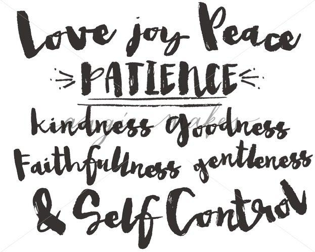 Fruit Of The Spirit Hand Lettering Calligraphy (Image 15 of 20)