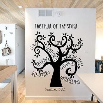 Fruit Of The Spirit Tree Wall Decal – From Grand Rapids | Vinyl Inside Fruit Of The Spirit Wall Art (Image 13 of 20)
