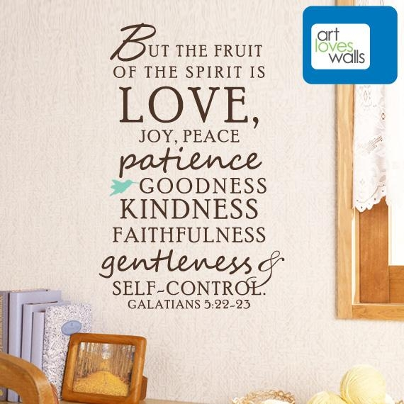 Fruit Of The Spirit Wall Decal – Art Loves Walls | Art Loves Walls With Fruit Of The Spirit Wall Art (Image 16 of 20)