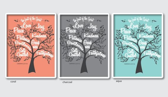 Fruit Of The Spirit Wall Print Of Galatians 5:22 Scripture With Regard To Fruit Of The Spirit Artwork (View 8 of 20)