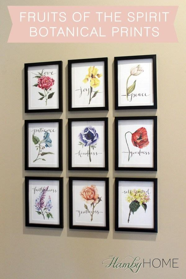 Fruits Of The Spirit Gallery Wall – The Hamby Home Within Fruit Of The Spirit Wall Art (Image 18 of 20)