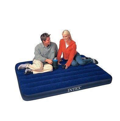 Full Size Air Mattress Intex Raised Downy Airbed Bed Inflatable Inside Inflatable Full Size Mattress (Image 12 of 20)