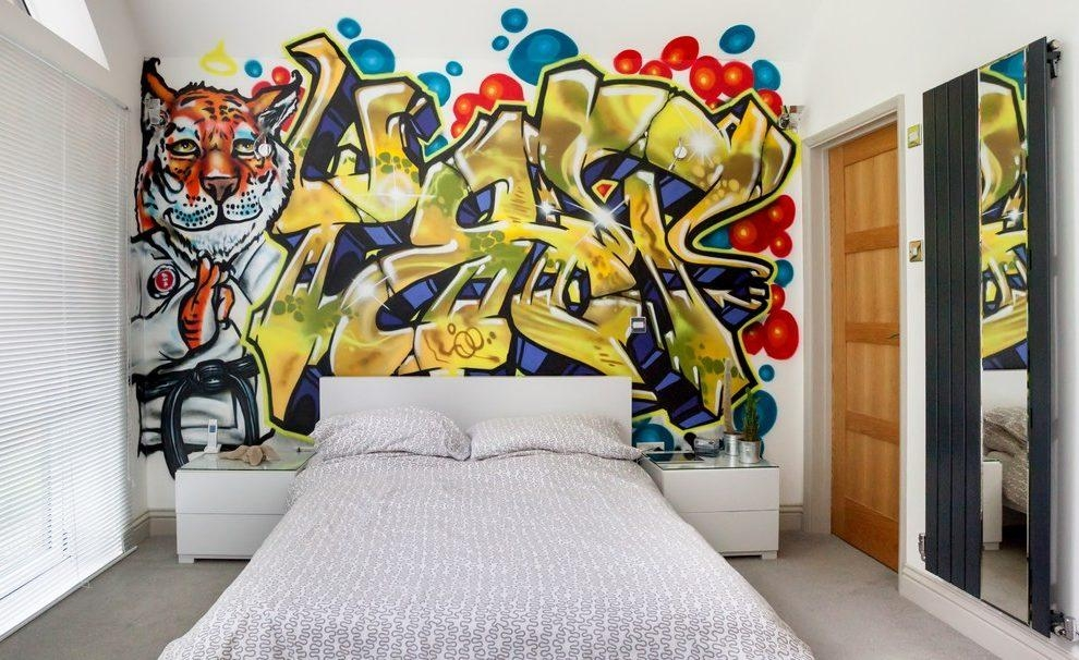 Funky Girl Bedroom Wall Art Bedroom Contemporary With Mural Metal Regarding Funky Metal Wall Art (Image 9 of 20)