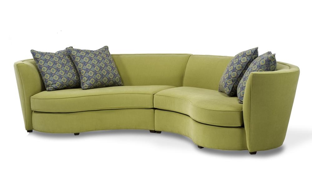 Furniture: Alluring Unique Curved Couches With Classic Design Home Inside Semi Circular Sectional Sofas (Image 11 of 20)
