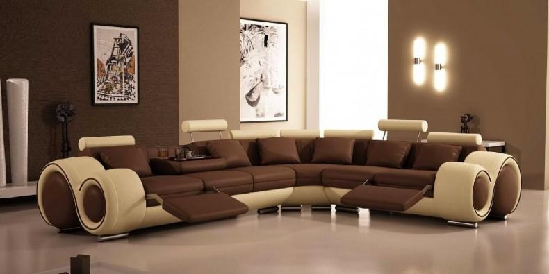 Furniture: Create Your Living Room With Cool Sectional Recliner Regarding Curved Sectional Sofas With Recliner (Image 12 of 20)