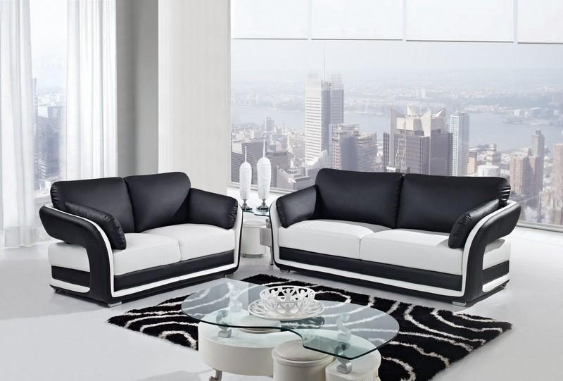Furniture In Brooklyn At Gogofurniture With Regard To Black And White Sofas And Loveseats (Image 15 of 20)