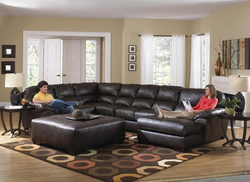 Furniture: Interesting Living Room Interior Using Large Sectional Intended For Big Comfy Sofas (Image 16 of 20)
