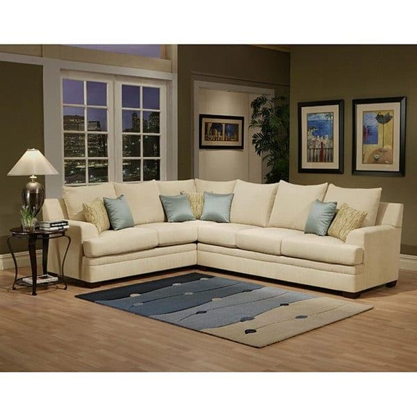 Furniture Of America Pure Joyce 2 Piece Chenille Sectional Sofa Inside Chenille Sectional Sofas (Image 11 of 20)