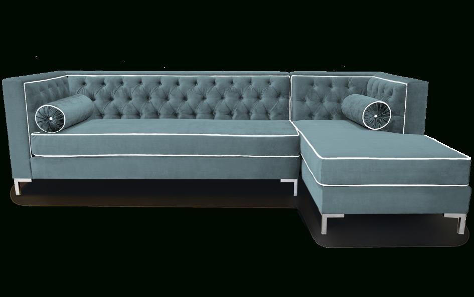 Furniture: Tufted Sectional Sleeper Sofa With Bolster Pillows Within Tufted Sleeper Sofas (Image 7 of 20)