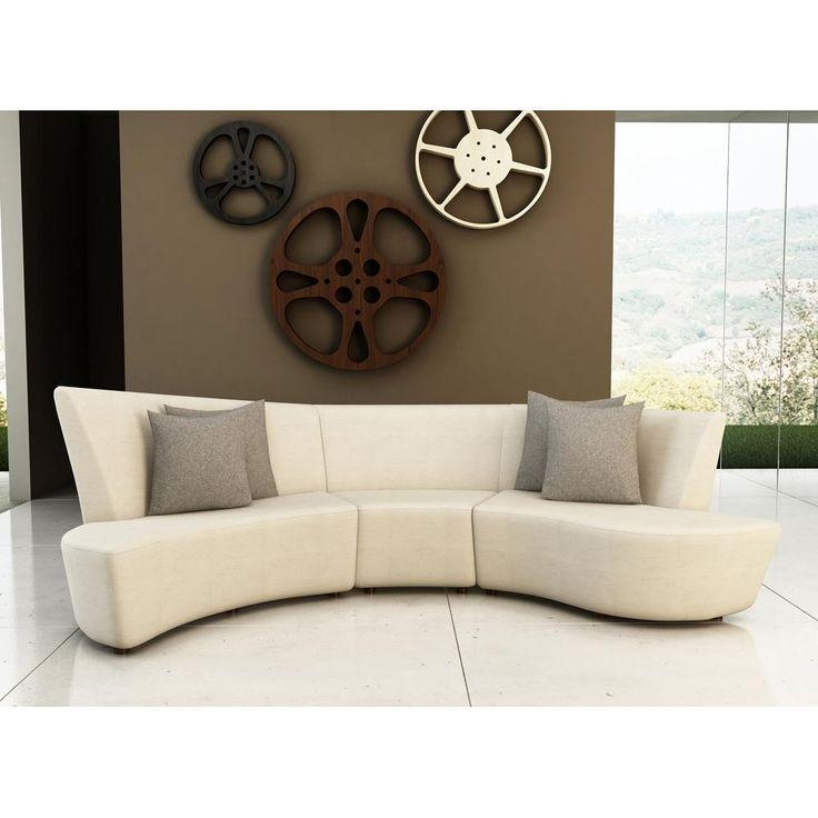 Furniture: Upholstered Fabric Curved Sectional Sofa For Living Intended For Small Curved Sectional Sofas (Image 13 of 20)