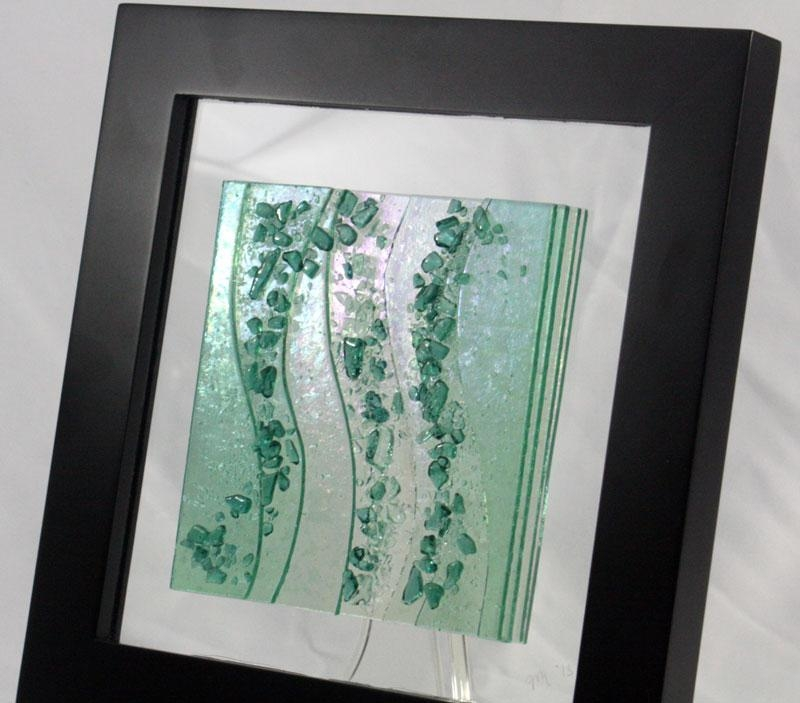 Fused Glass Wall Art Sea Glass Green Pertaining To Fused Glass Wall Art (View 3 of 20)