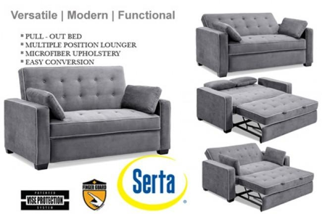 Futon Loveseat Bed | Roselawnlutheran Throughout Euro Sofa Beds (Image 13 of 20)