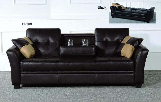 Futon With Cup Holders | Roselawnlutheran Inside Sofas With Cup Holders (Image 8 of 20)