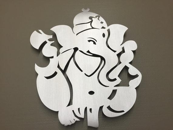 Ganesha Hindu Elephant Metal Wall Art Inside Ganesh Wall Art (View 3 of 20)