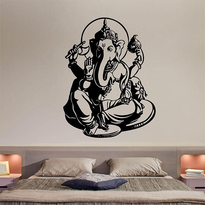Ganesha Vinyl Wall Art Decal Within Ganesh Wall Art (View 5 of 20)