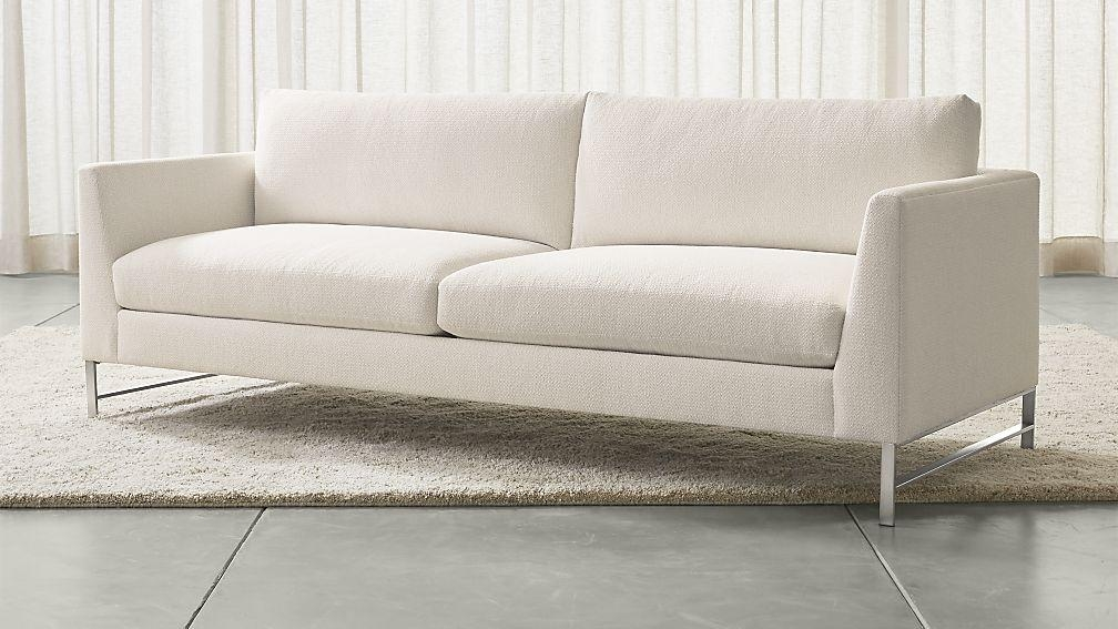 Genesis Sofa With Brushed Stainless Steel Base | Crate And Barrel With Sofas (View 11 of 20)