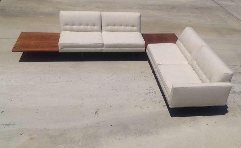 George Nelson Modular Sofa With Built In Rosewood Side Tables At Inside George Nelson Sofas (Image 8 of 20)