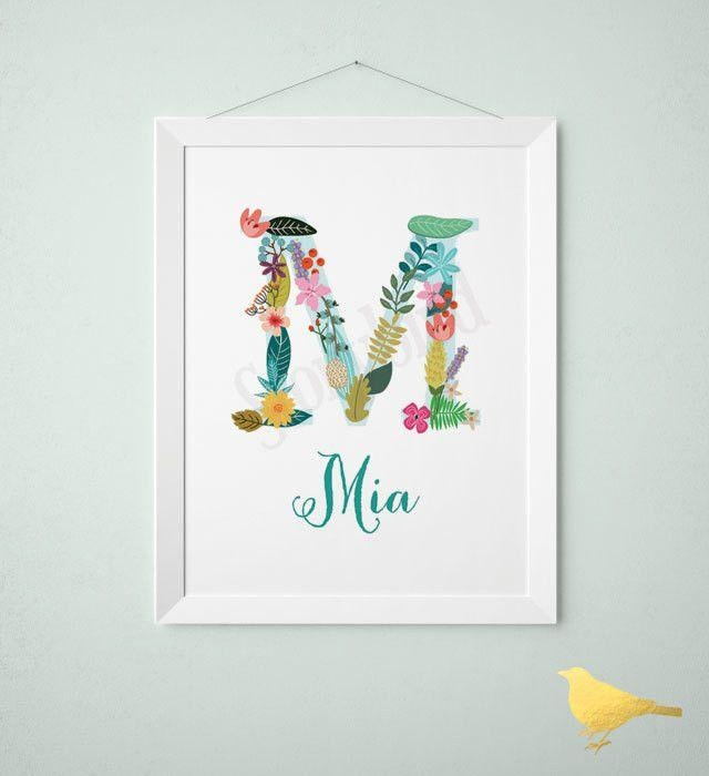 Get 20+ Baby Name Art Ideas On Pinterest Without Signing Up For Personalized Nursery Wall Art (Image 8 of 20)