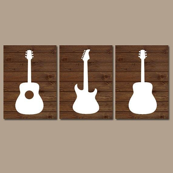 Get 20+ Guitar Wall Ideas On Pinterest Without Signing Up Pertaining To Musical Instrument Wall Art (View 12 of 20)