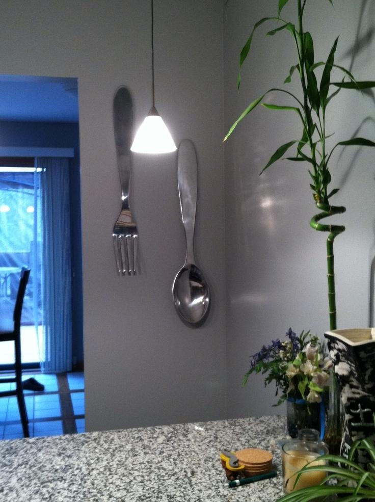 Giant Fork And Spoon For Kitchen! Target For $24. (View 4 of 20)