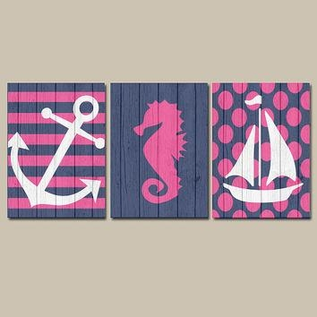 Girl Nautical Canvas Or Prints Wall Art From Trm Design | Wall Regarding Nautical Canvas Wall Art (View 2 of 20)