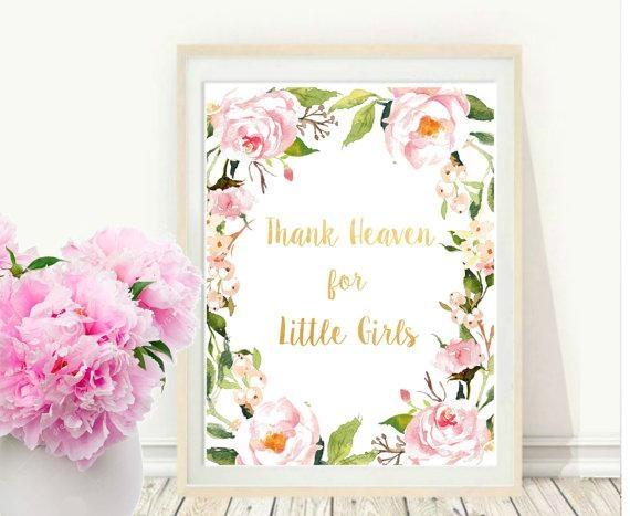 Girl Nursery Wall Art Thank Heaven For Little Girls With Regard To Little Girl Wall Art (View 9 of 20)