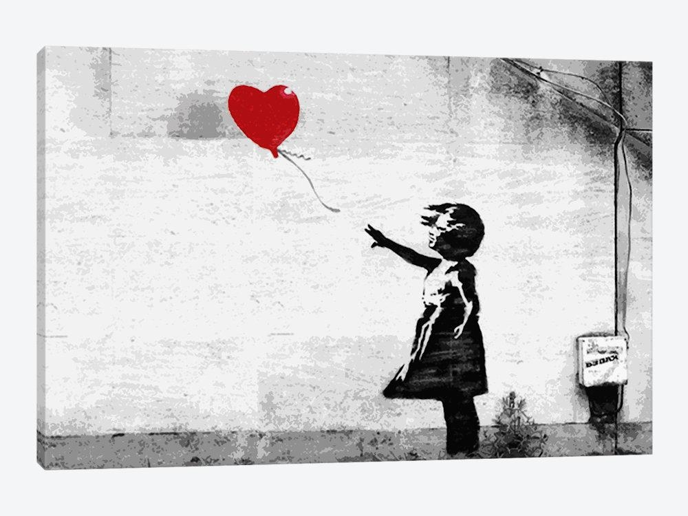 Girl With A Balloon Canvas Wall Artbanksy | Icanvas For Banksy Wall Art Canvas (View 4 of 20)