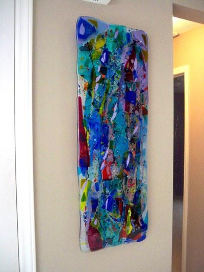 Glass Wall Art Panels Within Modern Glass Wall Art (Image 10 of 20)