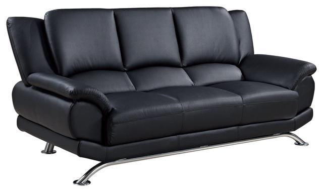 Global Furniture Bonded Leather Sofa – Contemporary – Sofas – Inside Sofas With Chrome Legs (Image 6 of 20)