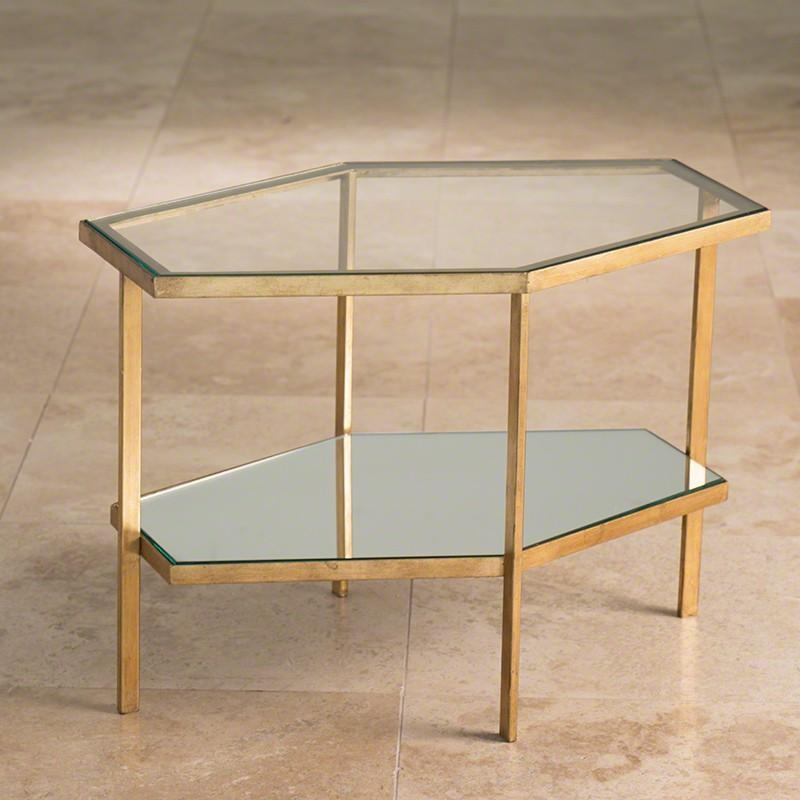 Global Views Hexagon Table – Gold | Candelabra, Inc (View 12 of 20)