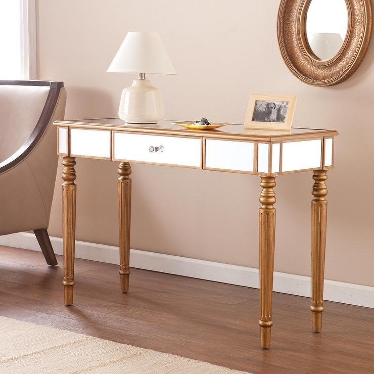 Gold And Mirrored Sofa Table – Products, Bookmarks, Design Throughout Gold Sofa Tables (View 16 of 20)