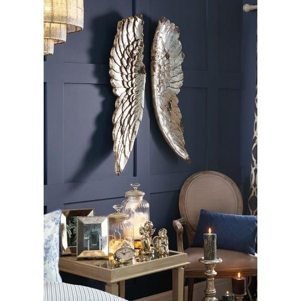 Gold Angel Wings Wall Art – Cotterell & Co (Image 18 of 20)
