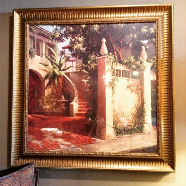 Gold Frame Tuscan Scene Wall Art | Invio Fine Furniture Consignment Throughout Tuscany Wall Art (Image 6 of 20)