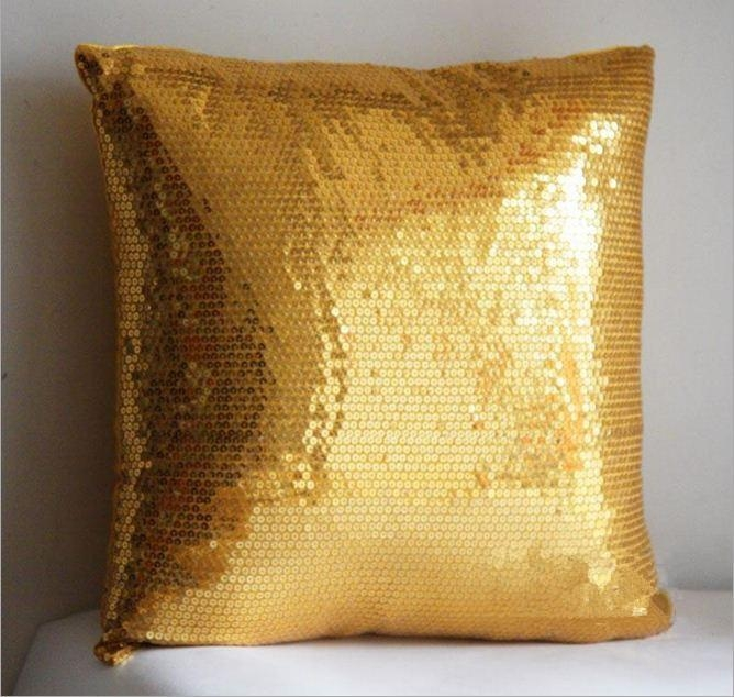 Gold Throws For Sofas Gold Cielo Jacquard Furniture Throw Cover Regarding Gold Sofa Pillows (Image 8 of 20)