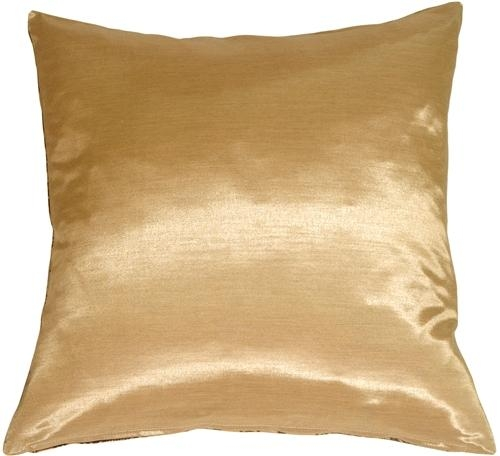 Gold With Brown Baroque Pattern Throw Pillow From Pillow Decor Within Gold Sofa Pillows (Image 9 of 20)