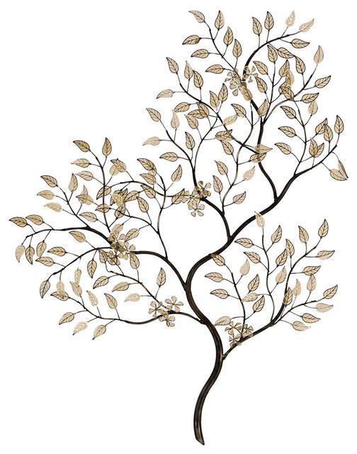 Golden Spring Filigree Wall Decor – Transitional – Metal Wall Art For Filigree Wall Art (Image 12 of 20)