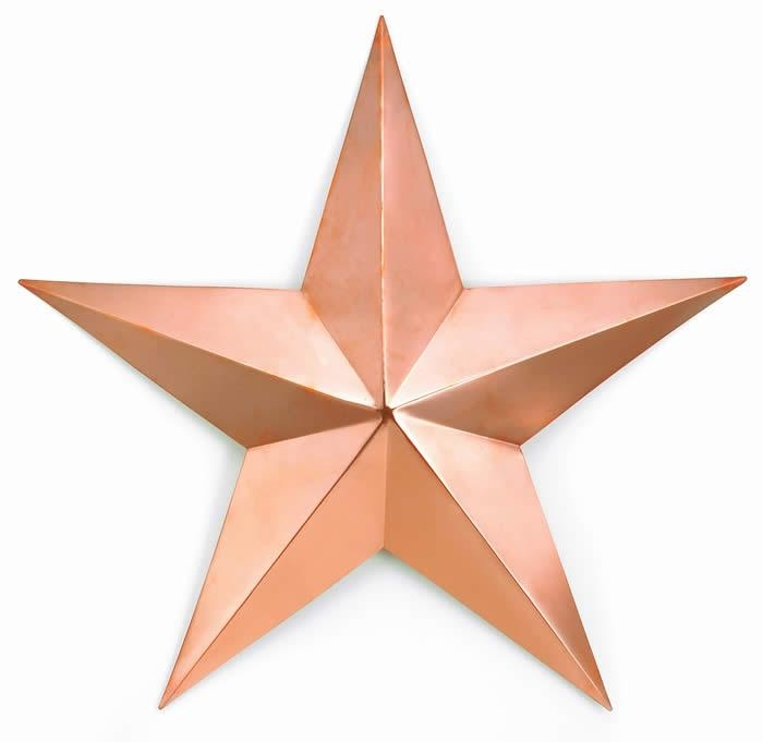 Good Directions Outdoor Wall Art / Copper Barn Star / Copper Sun Face With Copper Outdoor Wall Art (Image 11 of 20)