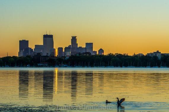 Good Morning Minneapolis Wall Art Print Photograph Skyline For Minneapolis Wall Art (View 20 of 20)