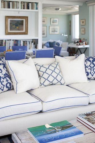 Gorgeous Blue And White Sofa Blue And White Checkered Sofa Blue With Regard To Blue And White Sofas (View 2 of 20)