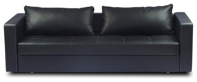 Gorgeous Futon Leather Sofa Bed Leather Futon Sofa Bed Emma Regarding Faux Leather Futon Sofas (Image 19 of 20)